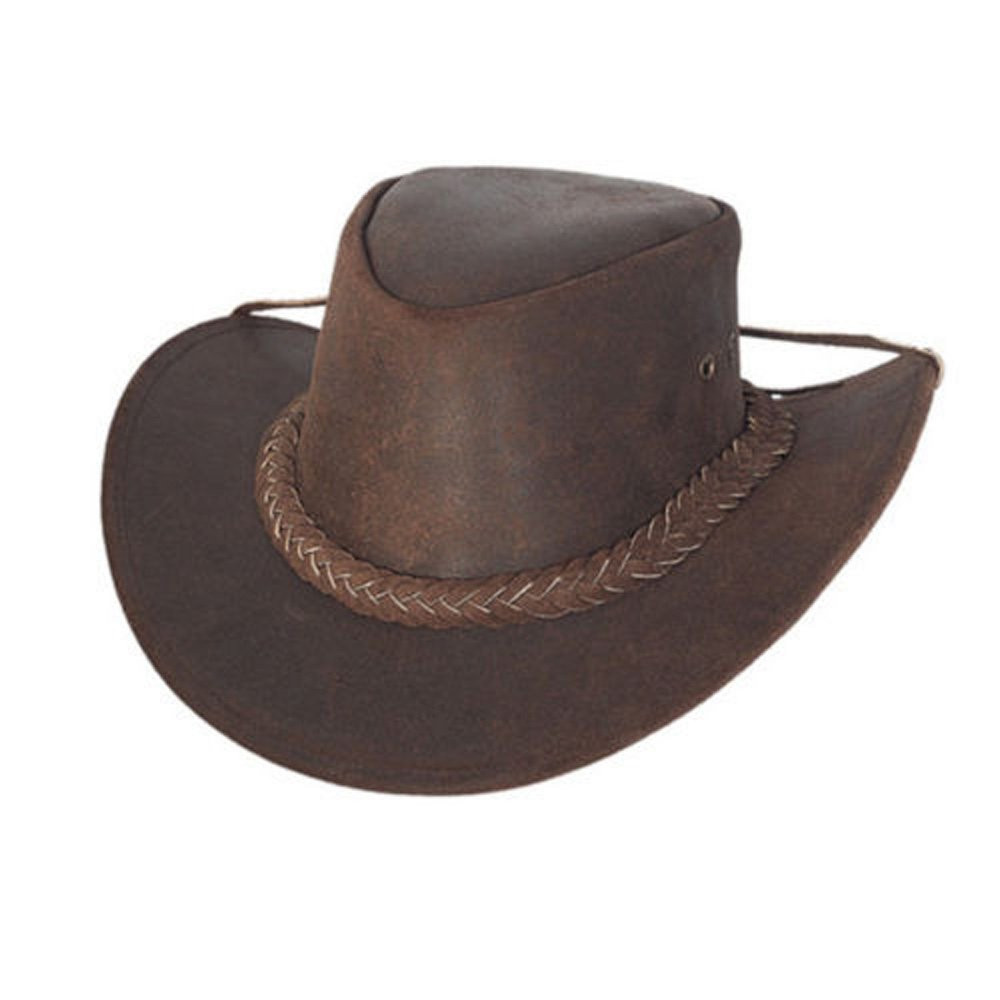Lesa Collection AUSTRALIAN STYLE LEATHER OUTBACK BUSH HAT UNISEX LC