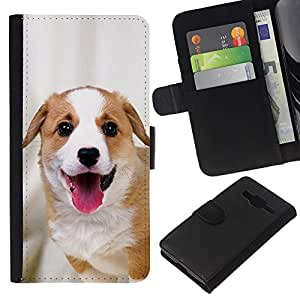Stuss Case / Funda Carcasa PU de Cuero - Harrier English Foxhound Coonhound - Samsung Galaxy Core Prime