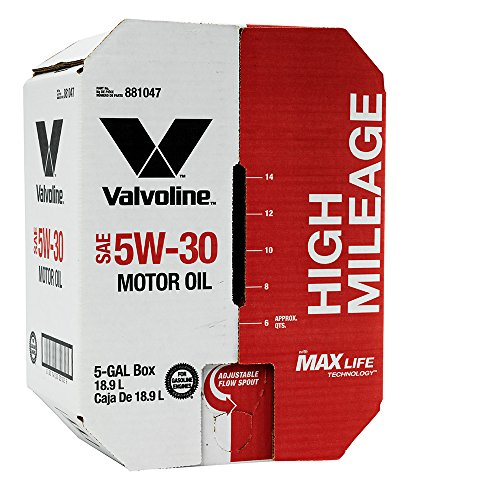 Valvoline 5W-30 MaxLife High Mileage Motor Oil - 5 gal Advanced Bay Box (881047)