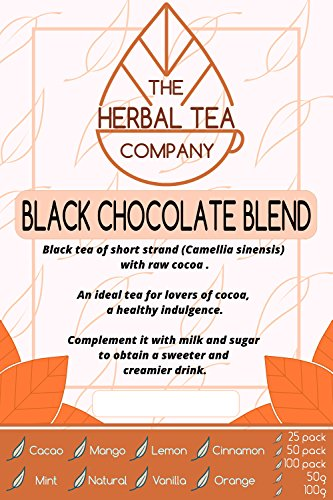 Black Walnut Loose Herb Black Chocolate Tea Blend 100g With Vanilla Flavour -