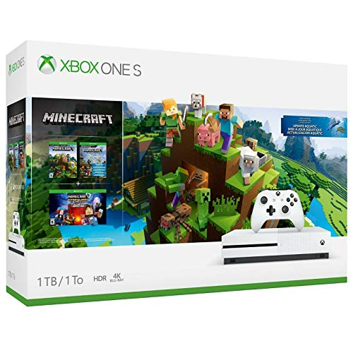 Xbox One S 1TB Console - Minecraft Bundle (Discontinued) (Console Xbox Edition Halo)