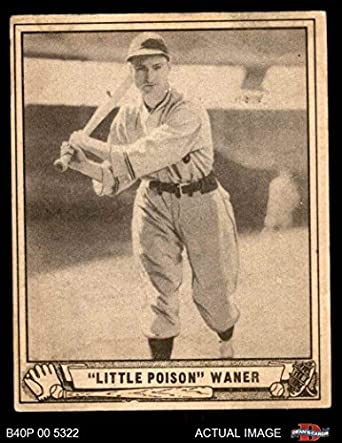 Amazoncom 1940 Play Ball 105 Lloyd Waner Pittsburgh