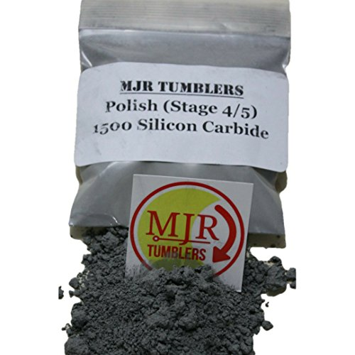 MJR Tumblers 5 lb Silicon Carbide 1500 Rock Grit Polish by MJR Tumblers