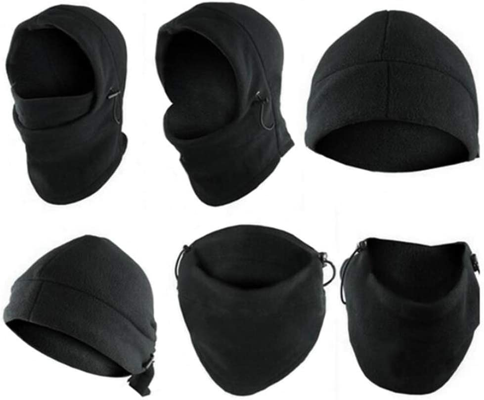 Balaclava Windproof Ski Face Mask Neck Warmer Hood Polyester for Women Men Youth Cycling Outdoors Hats Winter Face Fleece Hood Ski Mask Warm Helmet Set Fashion 6 in 1 Neck Face