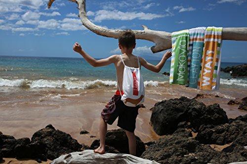 Personalizado sirena toalla de playa y bolsa para niños, cordón bolsa Pack para las niñas: Amazon.es: Hogar