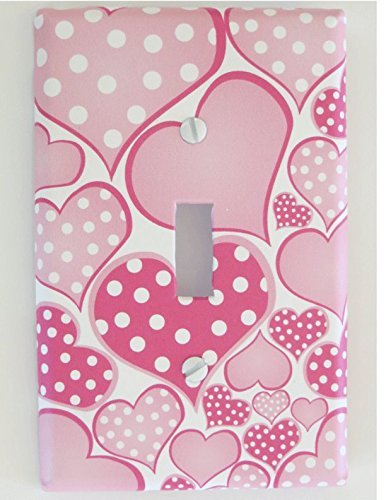 Amazoncom Polka Dot Pink Pastel Heart Light Switch Plate Covers