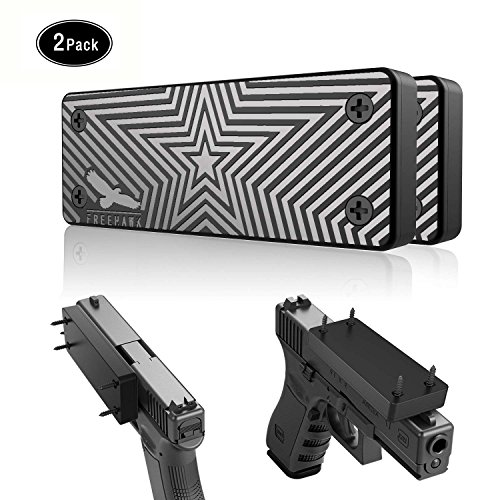 Freehawk 2 Pack Magnetic Gun Holster for Vehicle and Home - Rubber Coated 35 Lbs Rated Magnetic Gun Mount - Concealed Holder for Rifle, Pistol, Handgun, Shotgun, Revolver, Magazine (2PCS)
