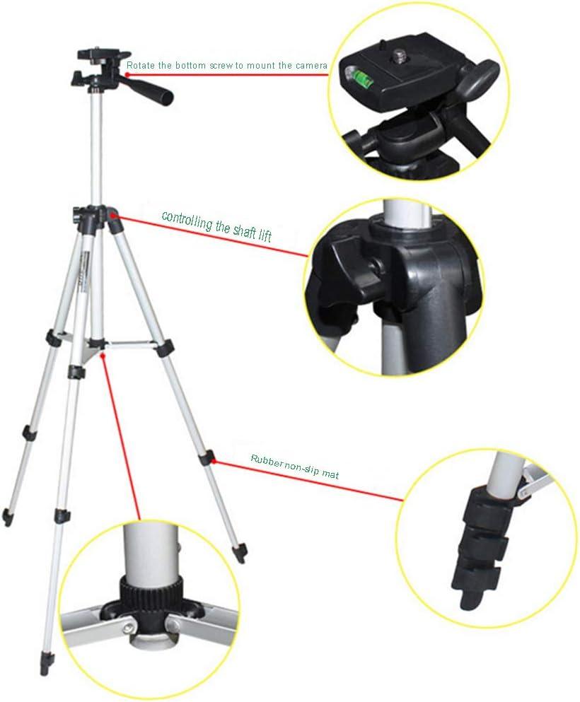 YANYAN Phone Camera Tripod Suitable for iPhone Samsung Digital Sony Canon Nikon Fuji Olympus Panasonic with Phone Holder Mount Tripod Bag