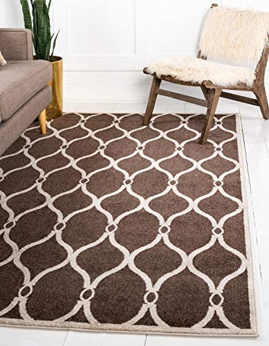 Unique Loom Trellis Collection Geometric Modern Brown Area Rug 3' 3 x 5' 3