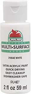 Apple Barrel Multi Surface Acrylic Paint, 2 oz, White 2 Fl Oz