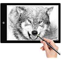 Amzdeal Tracing Light Box A4 LED Light Box Tracer Artcraft Tracing Light Pad with 6 Dimmable Brightness USB Powered for Drawing Sketching Animation