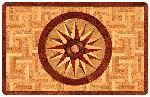 ... Bungalow Flooring 2 By 3 Feet Surfaces Floor Mat, Compass Rose Design