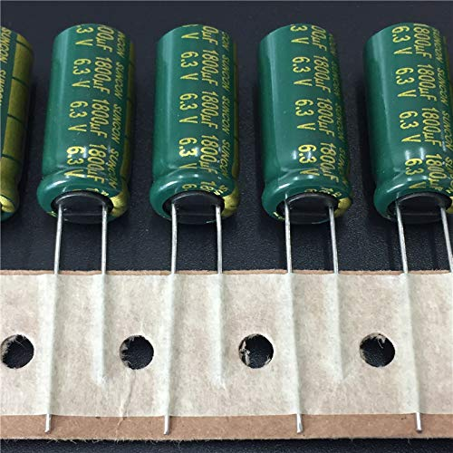Mustwell 10pcs 1800uF 6.3V Suncon(Sanyo) AX Series 10x22mm 6.3V1800uF Low Impedance LongLife Electrolytic Capacitor