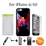 3in1 vape - Colorful Vape Smoke Custom iPhone 6 Cases/6S Cases-Black-Rubber,Bundle 3in1 Comes with HD Tempered Glass/Universal Stylus Pen by innosub