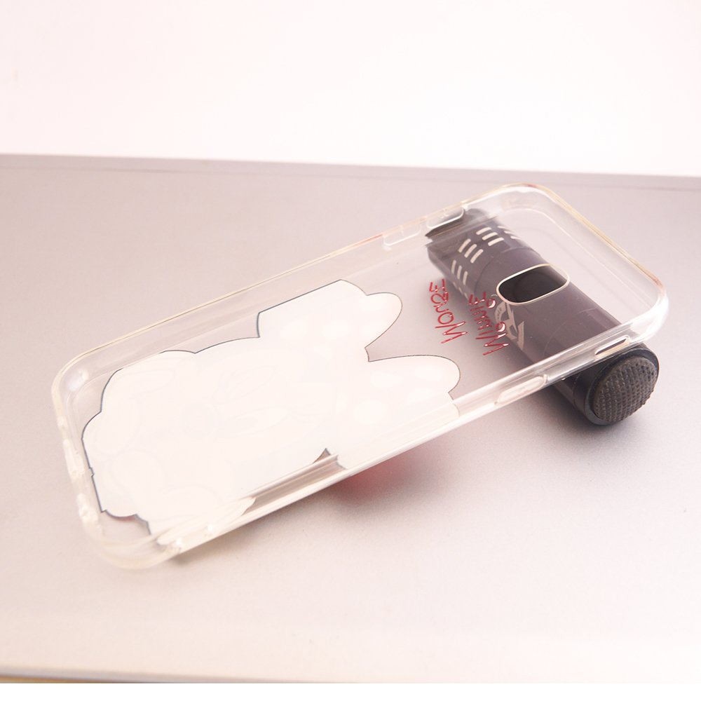 e975b509720 Funda ultrafina de silicona de poliuretano termoplástico de Vcomp con diseño  de Jolie en dibujos animados con tema de Navidad para el Samsung Galaxy J7  ...