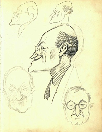 Vintage 1920s or 1930s Era Vincent Zito Caricature of Unknown Male Celebrity