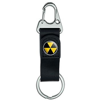 Llavero de piel con mosquetón para cinturón, símbolo de ...