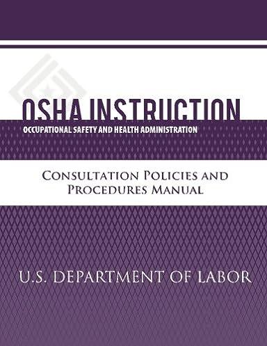 osha instruction consultation policies and procedures manual u s rh amazon com Safety Program Template Scaffolding Safety