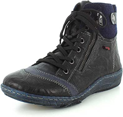 Remonte Black Lace Up Ankle Boot (D3874)