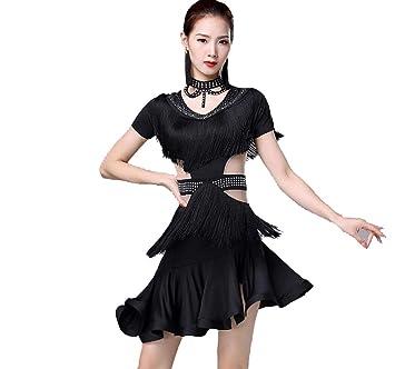 YZLL Vestido de Baile Latino con Borla Disfraz de Baile para ...