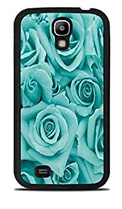 Teal Roses LittleTeal Black Silicone Case for Samsung Galaxy S4