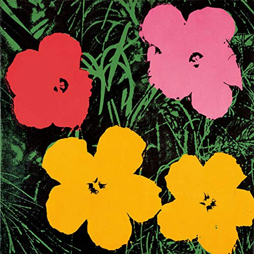 Posters: Andy Warhol Poster Art Print - Flowers, C.1964 (1 Red, 1 Pink, 2 Yellow) (35 x 35 inches) Andy Warhol Flower Prints