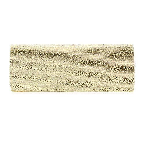 Party Damara Cocktail Womens Sequins Evening Formal Twinkling Bag Full Gold Clutch qOxU6wrYOK