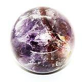 "Healing Crystals India 2"" -2.3"" Chevron Amethyst Sphere Natural Purple Crystal Rare Quartz Polished Ball Mineral Stone - India"