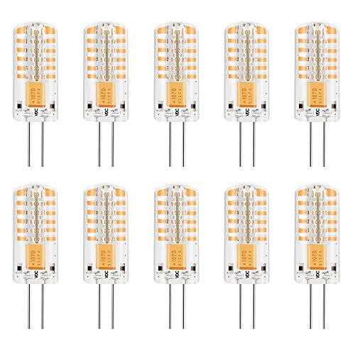 MENGS® 10 stuks dimbaar G4 LED-lamp 3W DC 12V warm wit 3000K 48×3014 SMD