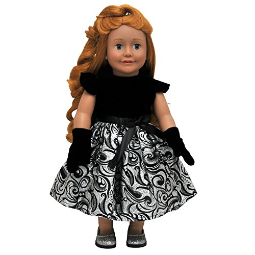 The Queen's Treasures Lil' Black 18 Inch Doll Dress is Perfect for any Event. Complete Sophisticated Black Velvet Bodice and Gloves. Designed to fit American Girl - Doll Fashion Gloves