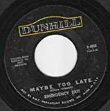 45vinylrecord Maybe Too Late/Why Girl (7