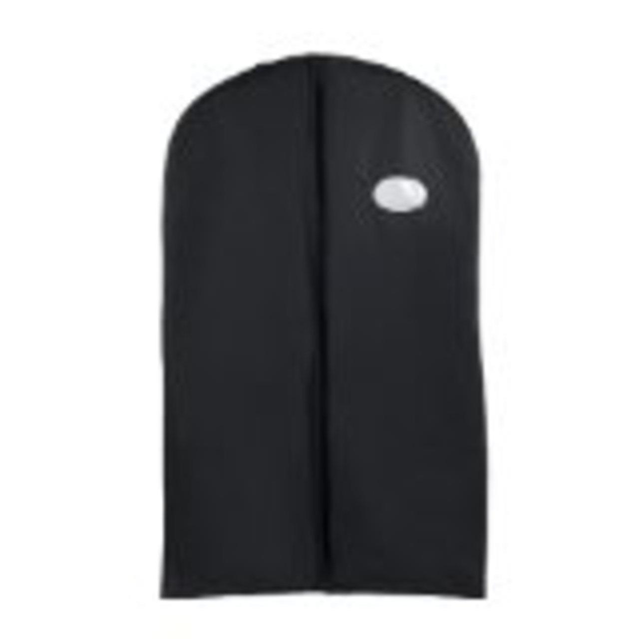 Dance Garment bag, Black Vinyl costume/uniform/dress Zipper Travel Garment Bag, 40'' By Tuva Inc.