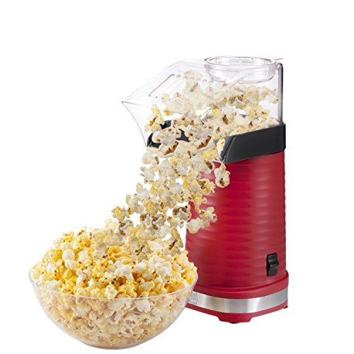 Chefman Air Pop Popcorn Maker, Makes 12 Cups of Popcorn, Includes Measuring Cup and Removable Lid, Dishwasher-Safe  - RJ33-T-Red by Chefman