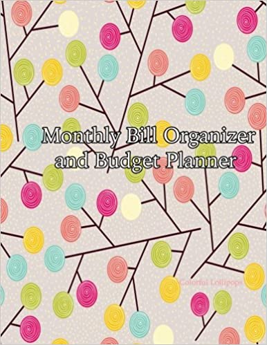 monthly bill organizer and budget planner colorful lollipops extra