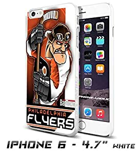 NHL Philadelphia Flyers , Cool iPhone 6 - 4.7 Inch Smartphone Case Cover Collector iphone TPU Rubber Case White [By PhoneAholic]