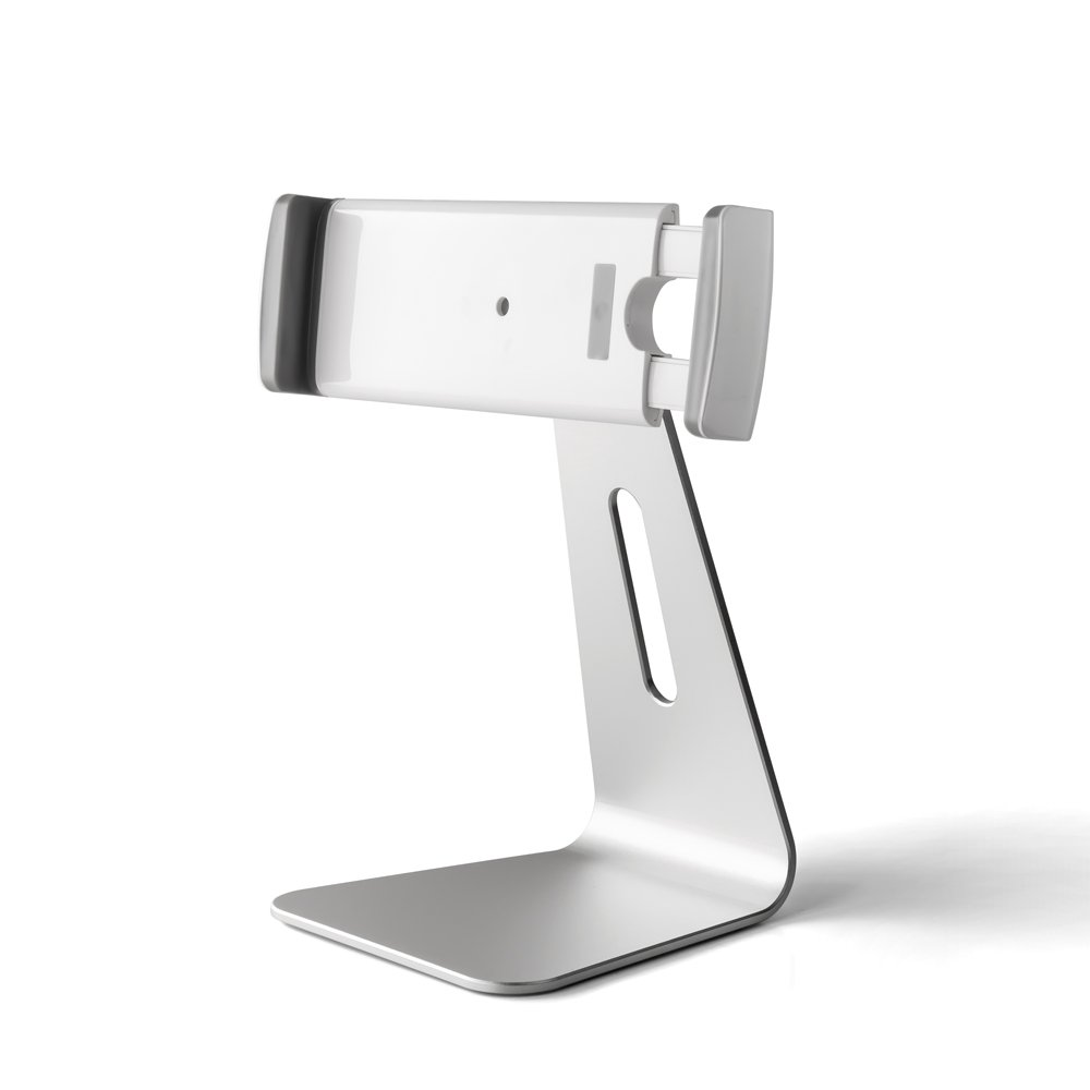Mingo Labs AP-7S Heavy Duty Adjustable Tablet Stand for 7-13'' wide iPads, Kindles, E-Readers and other tablets, Silver