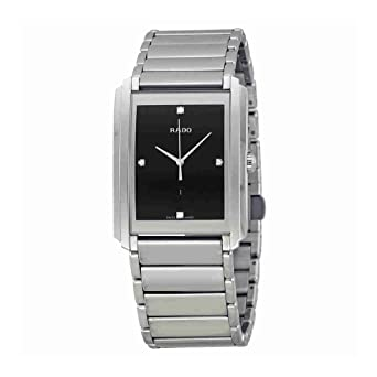 9ef506b57 Image Unavailable. Image not available for. Color: Rado Integral Black Dial  Stainless Steel Ladies Quartz Watch R20997713