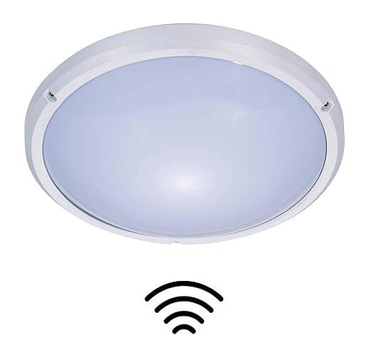ZEYUN Luz de mamparo,Luz de techo impermeable de 16W LED con el sensor de