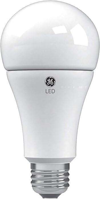 GE Lighting 24132 Soft White LED 3-Way 50/100/150-Watt Replacement A21 Bulb Medium Base