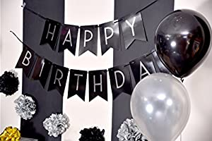 Amazon Sterling James Co Birthday Party Pack Black Silver