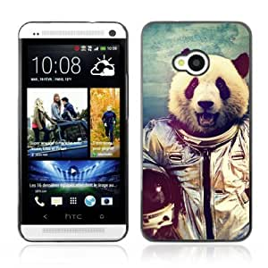 Designer Depo Hard Protection Case for HTC One M7 / Astronaut Panda