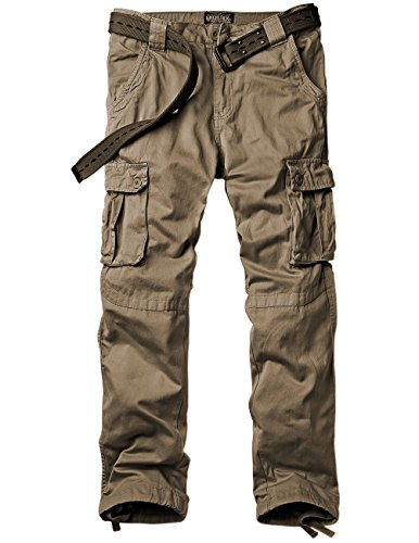 Match Men's Casual Wild Cargo Pants Outdoors Work Wear #6062(38,Dark Khaki)