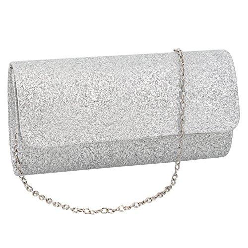 Handbag Bag Shoulder Silver Clutch Women Elegant Party for Envelope Candice Evening Bag Wedding 099 Bag q8CTnzw
