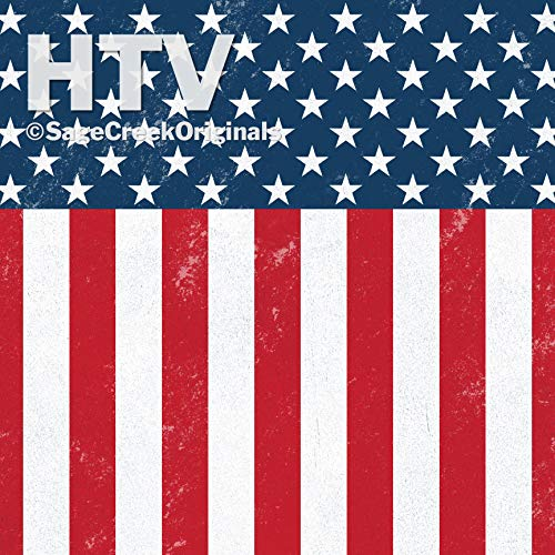 Patriotic Pattern, 4th of July, Stars and Stripes HTV, 12