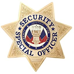 Security Special Officer Gold 7-point Star Badge