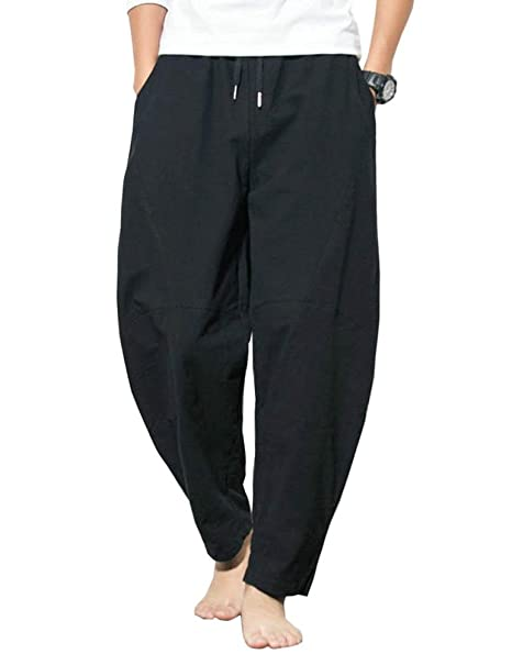 Amazon.com: Banana Bucket Hombres Casual Pantalones holgados ...