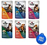 Cheap Nulo Freestyle Wet Dog Food Grain Free Broth Pouches Variety Pack, 6 Flavors, 12 Total Pouches and 1 Well Fed Pets Pet Food Lid