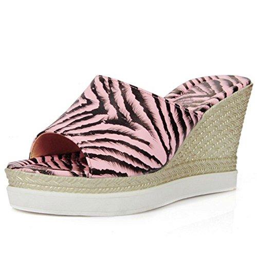 Femmes pink Mode Zanpa Compense Mules XdHqqg