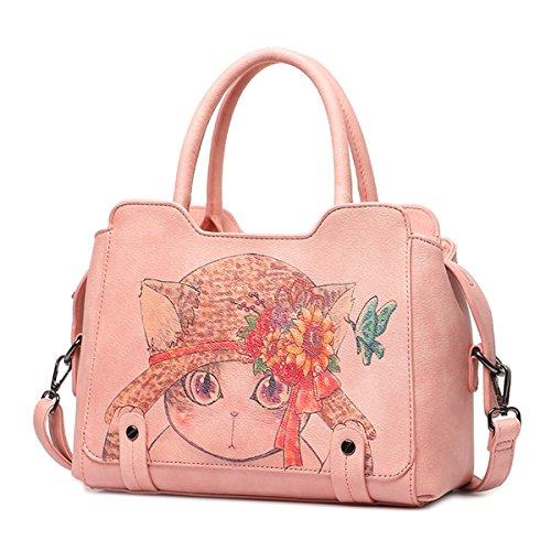 Wild messenger bag borse moda borsa a tracolla, rosa (CAT)