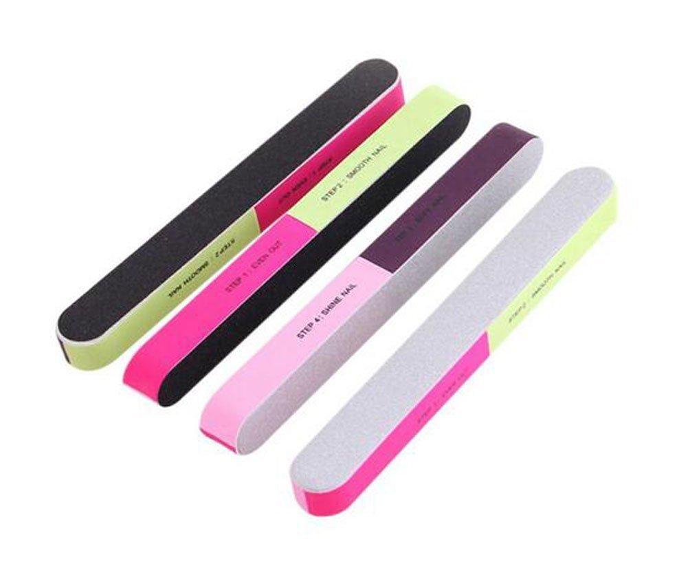 Confezione di 10 limette di cartone colorate lavabili, per unghie, adatte per uso cosmetico, manicure e pedicure erioctry